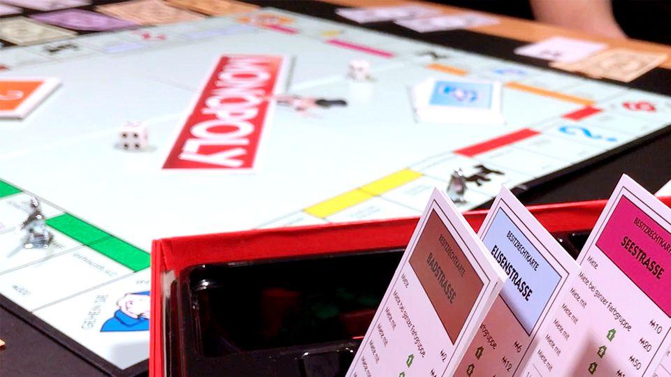 Ein Monopoly-Spiel