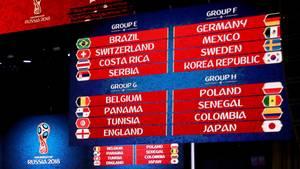 Deutschland wird bei der WM 2018 in Russland auf Mexiko, Schweden und Südkorea treffen. Das ergab die Auslosung in Moskau.