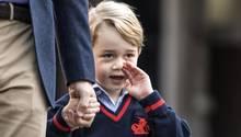 Prinz George (4) an seinem ersten Schultag (Archivbild)
