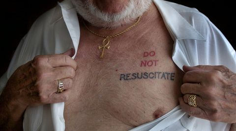 """""""Do not resuscitate"""" -Botschaft an die Ärzte? (Symbolbild)"""