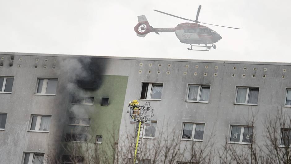Hochhausbrand in Berlin - 22 Menschen verletzt