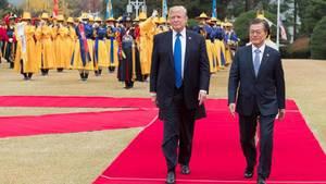 Donald Trump, Präsident der USA, zu Besuch in Südkorea