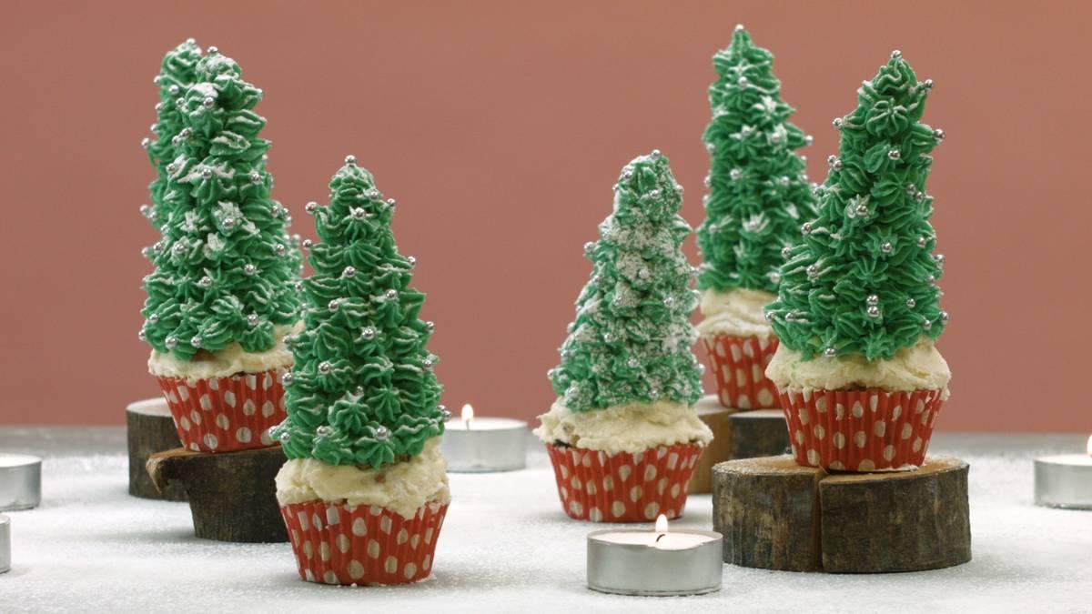 christbaum muffins rezept f r modernes weihnachtsgeb cl. Black Bedroom Furniture Sets. Home Design Ideas