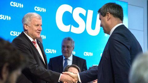 CSU: Markus Söder und Horst Seehofer