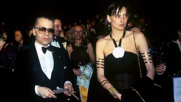 Karl Lagerfeld und seine Muse Inès de la Fressange