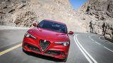 Alfa Romeo Stelvio Quadrifoglio - leider gibt es vorne nur Xenonlicht