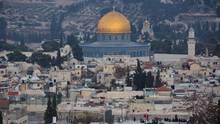 Jerusalem: Der Tempelberg mit dem Felsendom (m.) und der al-Aqsa-Moschee (r.)