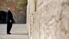 Donald Trump an der Klagemauer in Jerusalem
