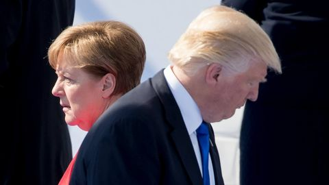 Angela Merkel und Donald Trump