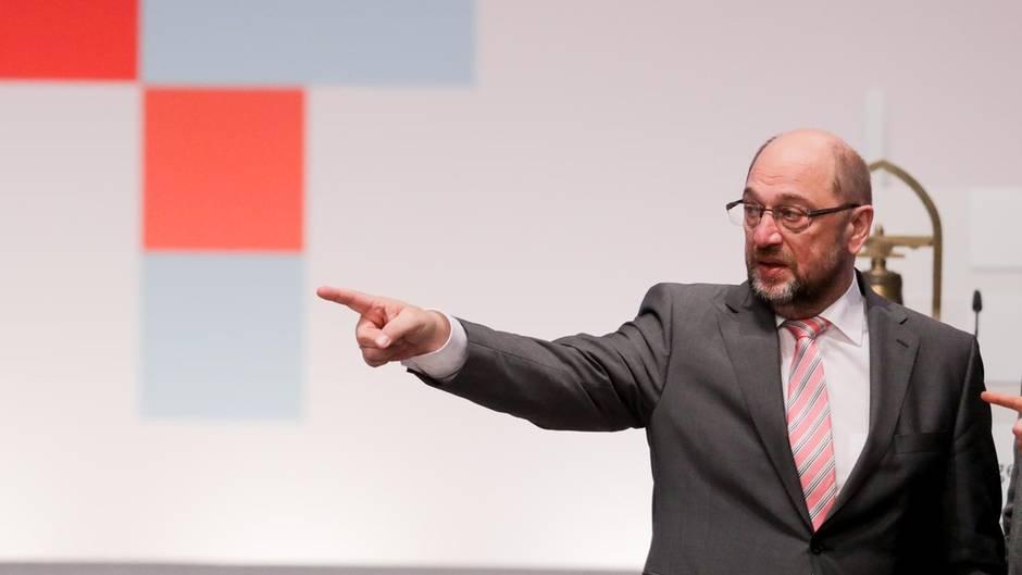 Will die Partei auf Gespräche mit der Union einschwören: SPD-Chef Martin Schulz