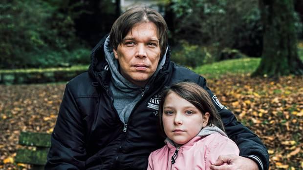 Jörn Teich mit seiner Tochter Lena. Sie war damals vier und saß auf seinen Schultern