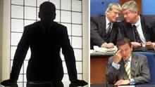 Gerhard Schröder (u.l.), Otto Schily und Bodo Hombach (o.r.) zählen zu den guten Bekannten eines libanesischen Geschäftsmannes