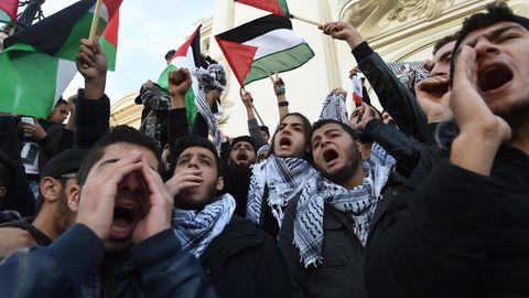 Gewaltsame Proteste gegen Donald Trumps Jerusalem-Entscheidung in Palästinensergebieten