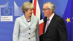 Brexit Theresa May und Jean-Claude Juncker