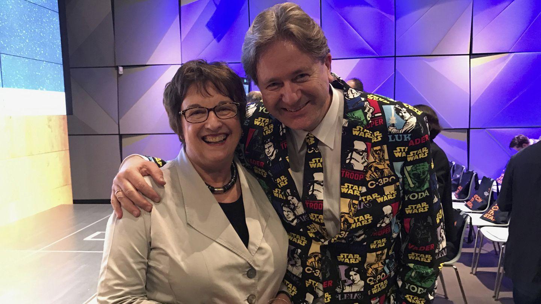 Frank Behrendt mit Bundeswirtschaftsministerin Brigitte Zypries