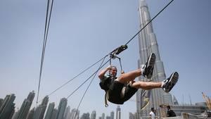 Ziplines gehören in Dubai zu den Top-Attraktionen für abenteuerlustige Besucher