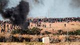 Israel-Konflikt: Zusammenstoß zwischen palästinensischen Demonstranten und israelischen Soldaten
