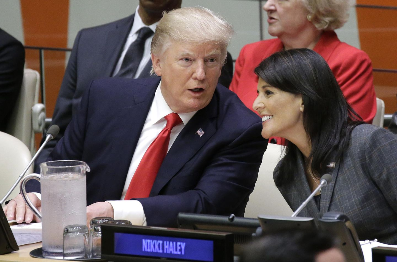Donald Trum und Nikki Haley