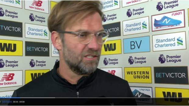 Ex-BVB-Trainer Jürgen Klopp zeigte sich im Sky-Interview reichlich genervt