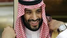 Kronprinz Mohammed bin Salman bei einer Presseveranstaltung in Riyadh, Saudi-Arabien