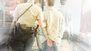 Ende einer Flugreise: Ein randalierender Passagier wurde festgenommen