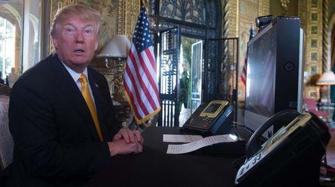 US-Präsident Donald Trump am Computer