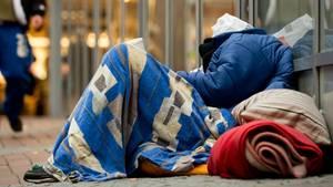 Ein Obdachloser