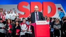 Der SPD-Vorsitzende Martin Schulz am vergangenen Wochenende auf dem Parteitag in Berlin