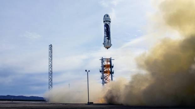 Jeff Bezos' Raumfahrtfirma Blue Origin entwickelt eine wiederverwendbare Rakete