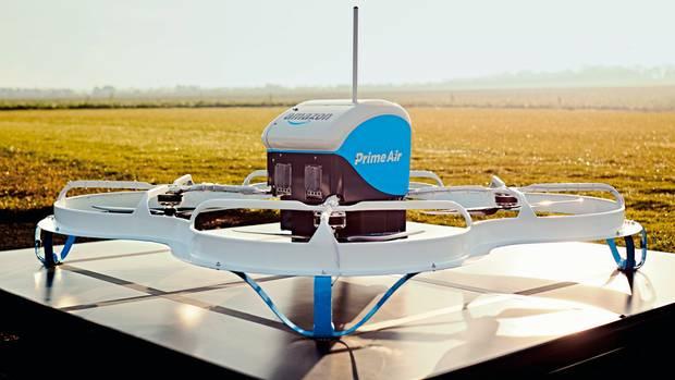 Himmelsbote: Mit Drohnen experimentiert Amazon in der Paketzustellung
