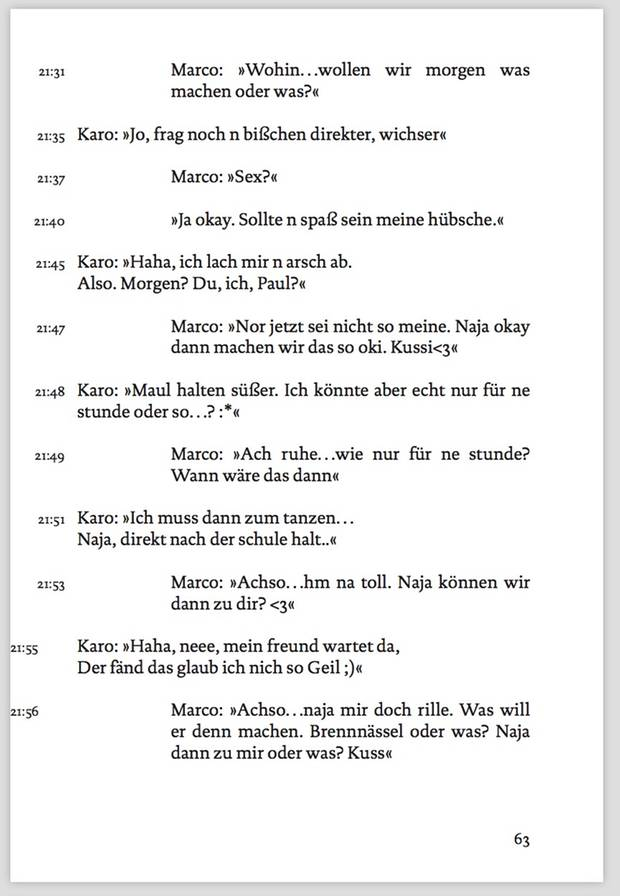 """Auszug aus """"Die Cops ham mein Handy"""""""