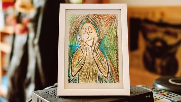 """Ein selbst gemaltes Bild, inspiriert von Munchs """"Der Schrei"""""""