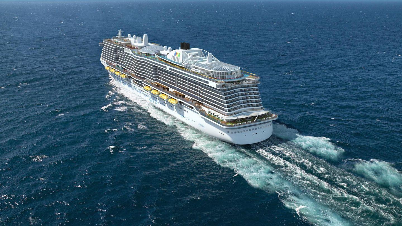 """""""Aida Nova"""" von Aida Cruises  Es ist die Innovation des Jahres:Die """"Aida Nova"""" wird das weltweit erste Kreuzfahrtschiff sein, das von Flüssigerdgas (LNG) angetrieben wird. Zur Zeit entsteht das größte Schiff der Aida-Flotte auf der Meyer Werft in Papenburg an der Ems. Ab Dezember 2018 wird die """"Nova"""" ab den Kanaren kreuzen.  Daten: 337 Meter Länge, 183.900 BRZ, 6600 Passagiere,www.aida.de"""