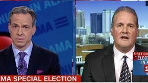 Ted Crockett, Sprecher von US-Republikaner Roy Moore, im CNN-Interview