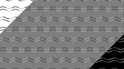 Vor einem grauen Hintergrund verwandeln sich Wellen in Zacken. Vor dem schwarzen und weißen Hintergrund passiert dies nicht.