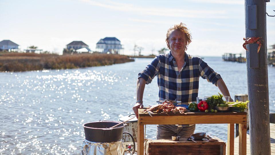 Bart van Olphen kocht mit den Zutaten, die das Meer hergibt
