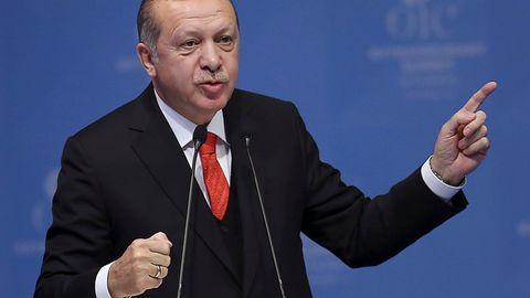 Recep Tayyip Erdogan beim OIC-Sondergipfel in Istanbul