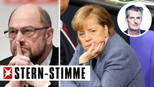 SPD: Wir wollen zwar nicht mit Merkel zusammenarbeiten, aber wir müssen ja.