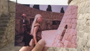 Ein Szenen-Foto aus Game of Thrones vor dem Original-Hintergrund
