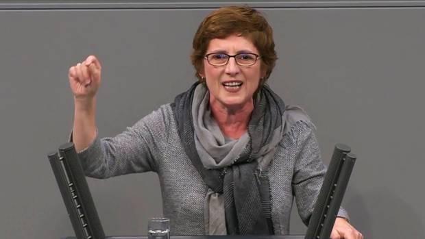 Britta Haßelmann bei ihrer Rede im Bundestag