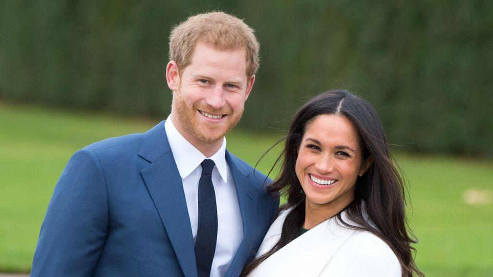 Prinz Harry und Meghan Markle strahlen kurz nach ihrer Verlobung