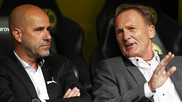 Peter Bosz und BVB-Boss Hans-Joachim Watzke