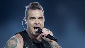 Robbie Williams singt auf seinem Konzert in Zürich