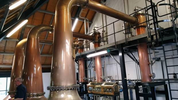 Die Anlage eine Whisky Destille auf Arran