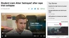 Auch die BBC berichtet über den Fall von Liam Allan, der zwei Jahre lang zu Unrecht beschuldigt wurde, eine Vergewaltiger zu sein