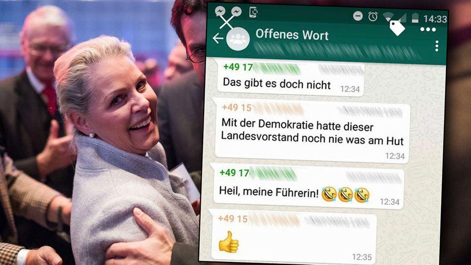 """Von Sayn-Wittgenstein: """"Heil, meine Führerin!"""" – WhatsApp-Gruppe zeigt, wie zerrissen die AfD ist"""