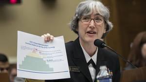 CDC-Vize-Direktorin Anne Schuchat mit einer Statistik der US-Gesundheitsbehörde