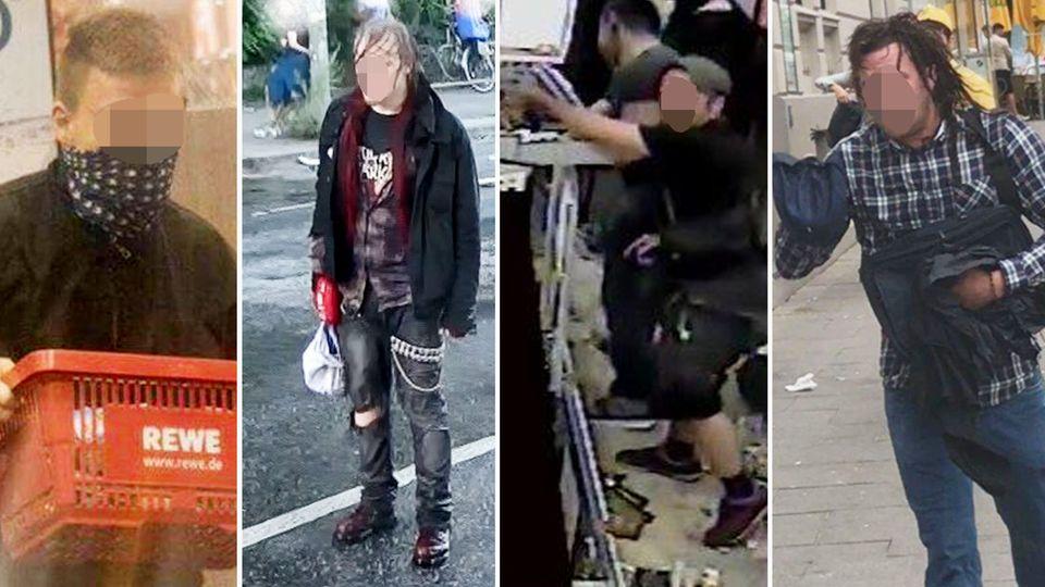 """Mehrere Tatverdächtige im Zusammenhang mit den Ausschreitungen rund um den G20-Gipfe im Juli in Hamburg - mit Bildern fahndet die Polizei nach """"Tatverdächtigen in einem Strafverfahren"""""""