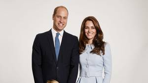 William und Kate mit den Kindern George und Charlotte