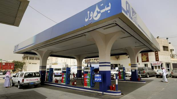 Tankstelle in Saudi-Arabiens Hauptstadt Riad